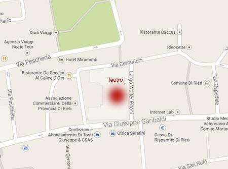 Teatro Flavio Vespasiano - Dove siamo